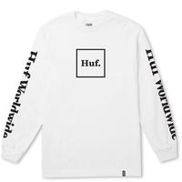 HUF ESSENTIALS DOMESTIC LS TEE  /  ハフ HUF90 WHITE
