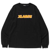XLARGE  L/S TEE OVER EDGE STANDARD LOGO エクストララージ ロンT  メンズ ロゴ トップス 長袖 Tシャツ / XL26 BLACK