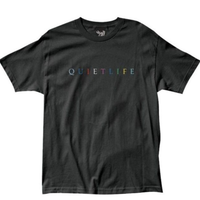 THE QUIET LIFE RAINBOW TEE ザクワエットライフ Tシャツ QL27 BLACK