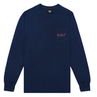 BELIEF NYC Studio L/S Pocket Tee - Navy ビリーフ / BL18
