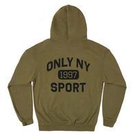 OnlyNY  Varsity Sport Hoodie  オンリーニューヨーク  OLIVE ONLY47
