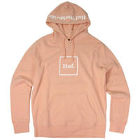 HUF  BOX LOGO PULLOVER HOODIE CoralPink HUF93