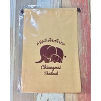 【タイ】ゾウさん巾着袋L TZK-01