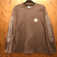 """FIFTY FIFTY Original """"Curry Chef"""" Patch Long Sleeve T-shirts  CHARCOAL"""