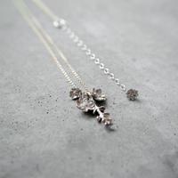 """bouquet necklace"" wh/K10 silverdallar+melampo"
