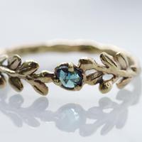 wreath ring ブルーダイヤモンド