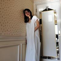 フードカフタンシャツドレス