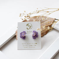 butterfly(purple)ピアス/イヤリング