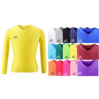 【お届けまで3〜4週間】日本製FT5152ジュニアVネック長袖インナーシャツ 15カラー