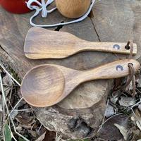 木製のスパチュラ、スプーンセット