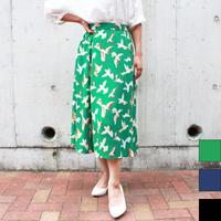 バードプリントスカート