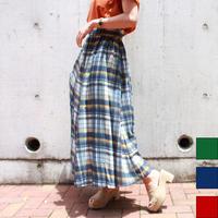 マドラスチェックマキシスカート