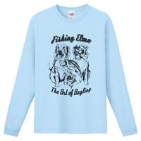 【Fishing Elmoオリジナル「The Art of Angling」6.6オンス  ハイグレード長袖Tシャツ】ライトブルー Lサイズ