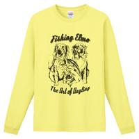【Fishing Elmoオリジナル「The Art of Angling」6.6オンス  ハイグレード長袖Tシャツ】ライトイエロー Mサイズ