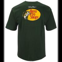 バスプロショップス ジョニーモリス ウッドカットロゴTシャツ サイズM HUNTER
