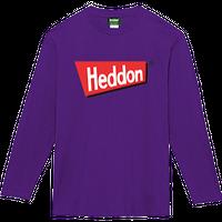 ヘドンファン待望の、ヘドン社のオフィシャルアイテム。完全限定!売切れ御免!【ヘドンロングTシャツ 2019年度版】サイズ M パープル