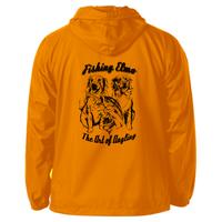 Blaze a trail ! クロアチアンデザイナー謹製【Fishing Elmoオリジナル「The Art of Angling」ナイロンパーカシェル  Blaze Orangeカラー】サイズXL