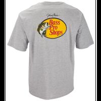 バスプロショップス ジョニーモリス ウッドカットロゴTシャツ サイズM ヘザーグレー