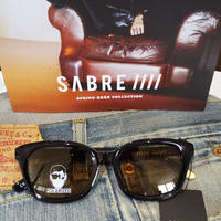 SABRE『COUGAR』 BLACK GROSS/LIGHT BROWN POLA(偏光レンズ)