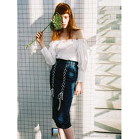 Honey mi Honey (ハニーミーハニー)  laceup denim skirt 5月下旬18S-WV-35
