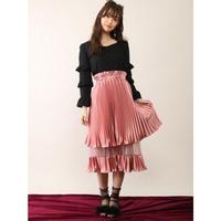 Honey Salon  プリーツレイヤードスカート FHW-0902