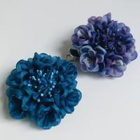 西洋紫陽花【紫】カット済み生地&「改訂版 つまみ細工の可憐な花々」セット