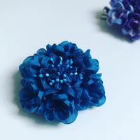 西洋紫陽花【青】カット済み生地&「改訂版 つまみ細工の可憐な花々」セット