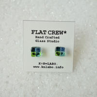 Mini-Square Corors Pierce / green x blue(7705)