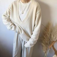 v neck basic knit (3color)[TOP20AW547]