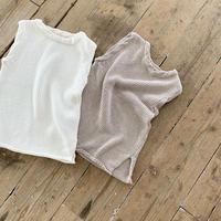 オンライン限定 twist knit best (2color)  [TOP19AW0103]