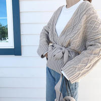 cable knit cardigan (2color)