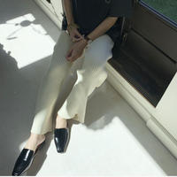 knit rib pants [BT20AW460]