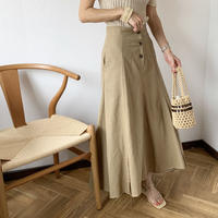 front button flare skirt (2color)[BT20SS424]