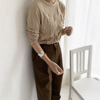 wrinkle tops (3color) [TOP19AW0141]