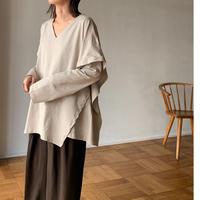 poncho design long T-shirt[TOP21SS761]