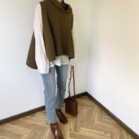 west ribbon knit best [TOP20AW242]