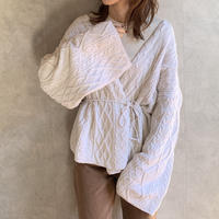 ribbon cable knit cardigan  [TOP19AW0162]