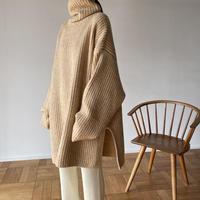 [original] volume turtle long knit (3color)[FL2121]