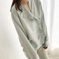 asymmetry frill  shirt (2color)[TOP21SS618]