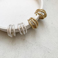 three hoop pierce (2color)  [19AW0145]