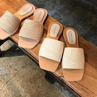 jute flat sandal (2type)