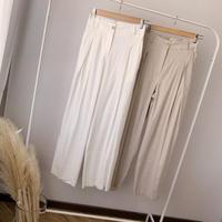 linen high-waist pants  (2color) [PT20SS330]