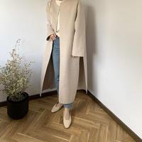 no color side slit coat (2color) [OU20AW256]