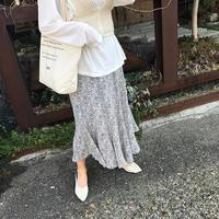 little flower flare skirt