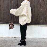 cable over knit (4color) [TOP18AW-0007]