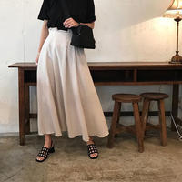 west tack linen flare  skirt (2color)