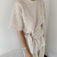 Paisley lace t-shirt  [TOP20SS406]