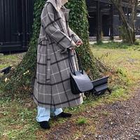 handmade check coat