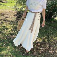 color scheme belt flare skirt (2color)