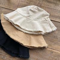 fringe bucket hat (3color)